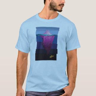 T-shirt Iceberg rose congelé à temps