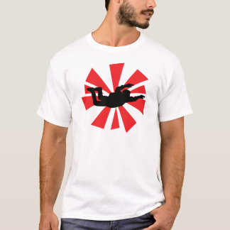 T-shirt icône de parachutiste de parachutisme