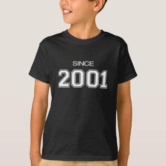T-shirt idée de cadeau d'anniversaire 2001