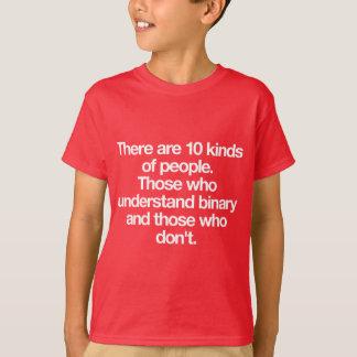 T-shirt Il y a 10 genres de personnes