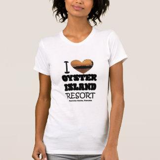 """T-shirt Île #2 d'huître du """"coeur"""" I pour elle"""