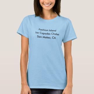 T-shirt Île de mode, chalet de Capades de glace, San Mateo