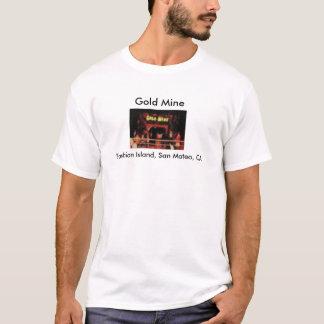 T-shirt Île San Mateo, CA de mode de mine d'or
