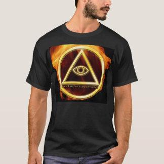 T-shirt Illuminati sur le feu