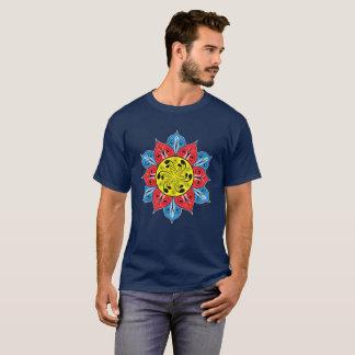 T-shirt Illustration abstraite de fleur