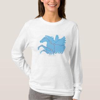 T-shirt Illustration de constellation de Pegasus