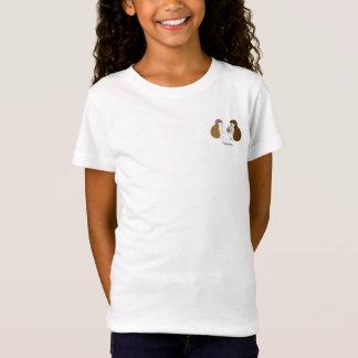 T-Shirt Illustration de poche de fleur de hérisson