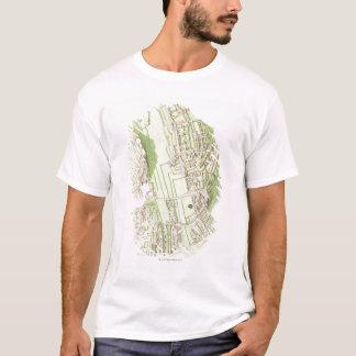 T-shirt Illustration de ville précolombienne d'Inca de