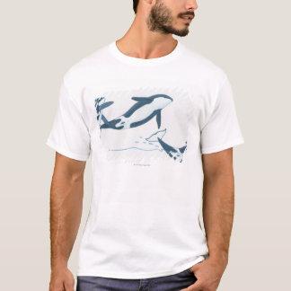 T-shirt Illustration des épaulards (orque d'Orcinus)