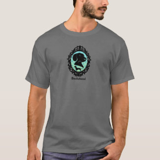 T-shirt Illustration encadrée de teckel