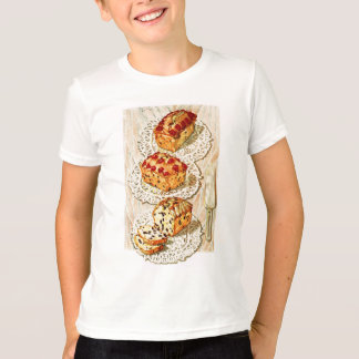 T-shirt Illustration vintage de gâteau de fruit