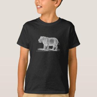 T-shirt Illustration vintage d'hippopotame de 1800s -