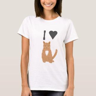 T-shirt ILove cette image de chat de gingembre de tee -