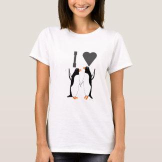 T-shirt ILove cette image de pingouins de tee - shirts