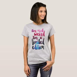 T-shirt im non étrange je suis un tee - shirt de citation