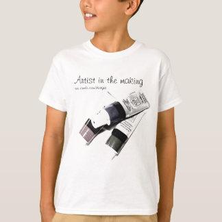 T-shirt Image de tubes de la peinture acrylique de