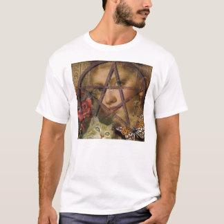 T-shirt image rose de pentagone étoilé de victorian