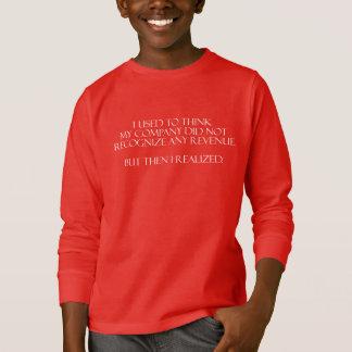 T-shirt Impôt et longue chemise de comptabilité de douille
