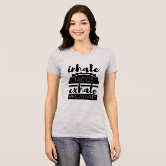 T-shirt Impressionnant inhalez les tacos exhalent le