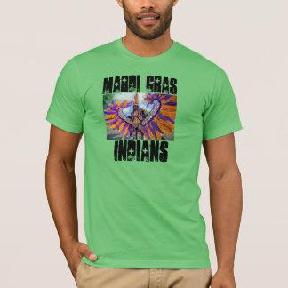 T-shirt Indiens de mardi gras