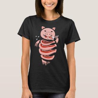 T-shirt Individu mangeant le porc de cannibale coupé dans