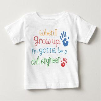 T-shirt infantile civil de bébé d'ingénieur