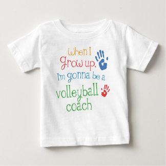 T-shirt infantile de bébé de car de volleyball