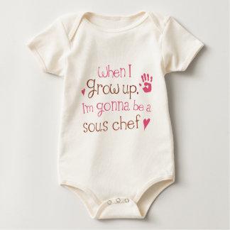 T-shirt infantile de bébé de chef de Sous (avenir)