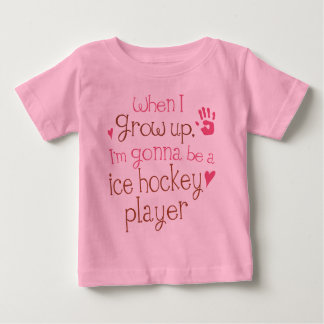 T-shirt infantile de bébé de joueur de hockey de