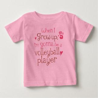 T-shirt infantile de bébé de joueur de volleyball