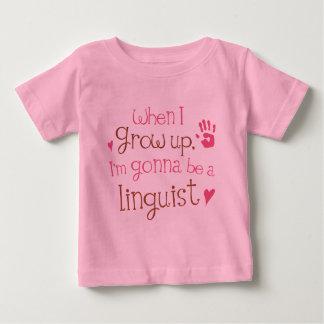 T-shirt infantile de bébé de linguiste (avenir)