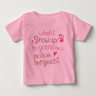 T-shirt infantile de bébé de sergent de police