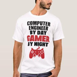 T-shirt Ingénieur informaticien par le gamer de jour par