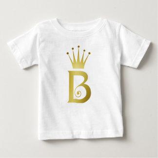 T-shirt initial de bébé de monogramme de lettre de