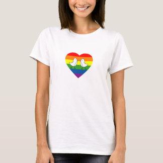 T-shirt Inséparables au coeur d'arc-en-ciel