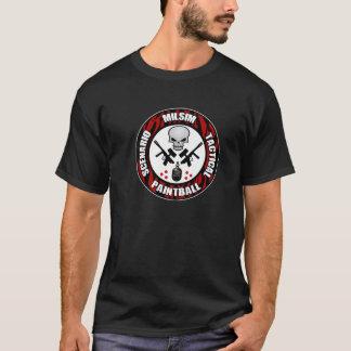 T-shirt Insigne de Paintball de scénario de rayure de