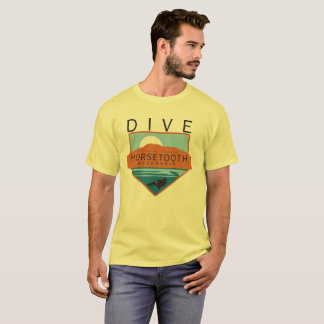 T-shirt Insigne de réservoir de Horsetooth de piqué