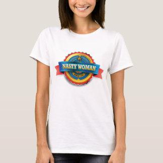 T-shirt Insigne méchant de femme d'honneur