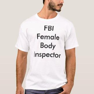 T-shirt Inspecteur de corps féminin de FBI