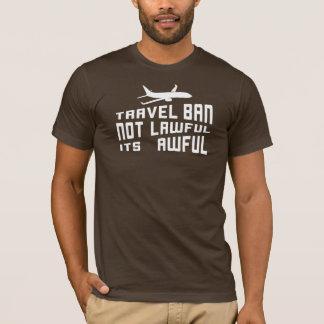 T-shirt Interdiction de voyage terrible d'atout