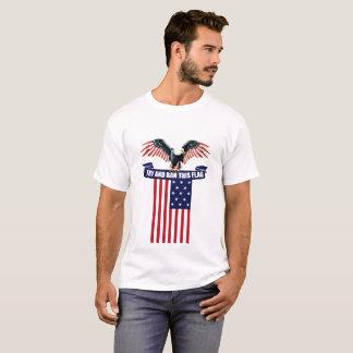 T-shirt Interdiction patriotique d'essai de chemise de