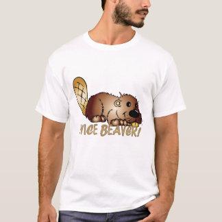 T-shirt intéressant d'amusement du castor des