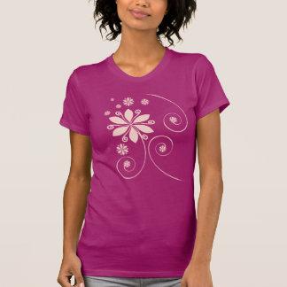 T-shirt intéressant lisse pour des dames