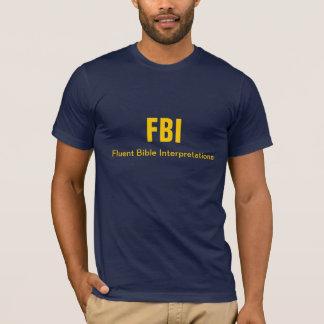 T-shirt Interprétations fluidees de bible de FBI