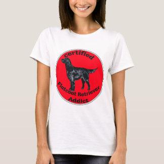 T-shirt Intoxiqué certifié de chien d'arrêt de Flatcoat