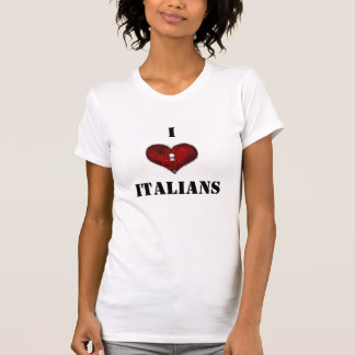 T-shirt Italiens d'amour de dames