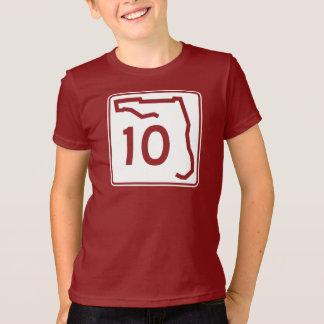 T-shirt Itinéraire 10 d'état de la Floride