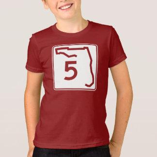 T-shirt Itinéraire 5 d'état de la Floride