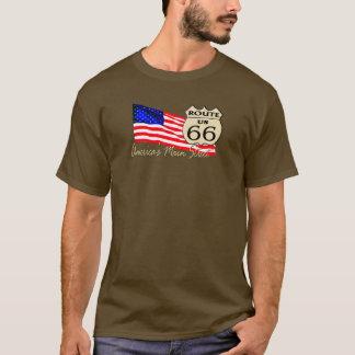 T-shirt Itinéraire 66 - La rue principale de l'Amérique
