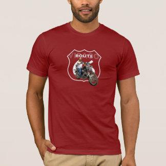 T-shirt Itinéraire classique 66 de moto de mégère de